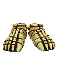 Skeleton Feet yellow made of latex