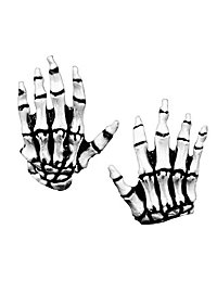 Skeleton hands for children white latex