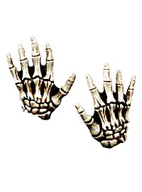 Skeleton Hands for Kids bone color made of latex