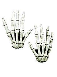 Skeleton Hands long fingers white made of latex