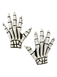 Skeleton Hands short white made of latex