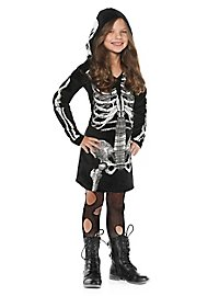 Skeleton Hooded Dress Child Costume