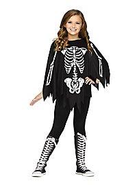 Skeleton Poncho for children