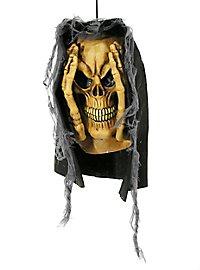 Skeleton Window Scare Halloween Deco