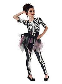 Skelett Ballerina Kinderkostüm