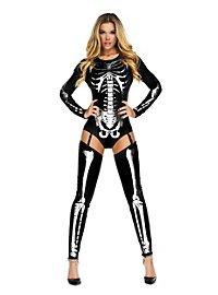 Skelett Body schwarz mit Stulpen
