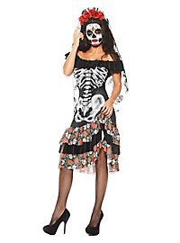 Skelett Braut Kostüm