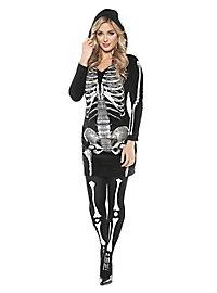 Skelett Kapuzenkleid Kostüm