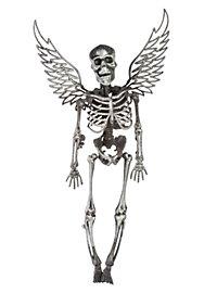 Skelett mit Flügeln silber Halloween Deko