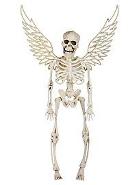 Skelett mit Flügeln weiß Halloween Deko