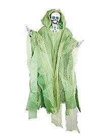 Skelett mit leuchtend grüner Robe Hängedeko