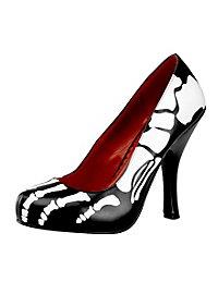 Skelett Schuhe schwarz