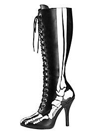 Skelett Stiefel schwarz