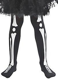 Skelett Strumpfhose für Kinder