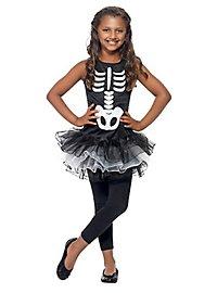 Skelett Tutu Kostüm für Kinder