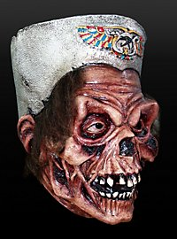 Skelettmumie Maske aus Latex