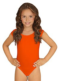 Sleeveless body for children orange