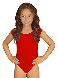 Sleeveless body for children red