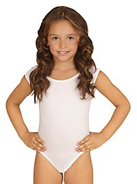 Sleeveless body for children white