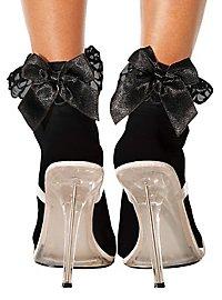 Socquettes noires ornées d'un nœud noir