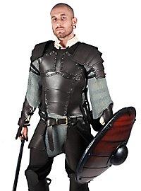 Lederrüstung mit Schultern - Söldner schwarz