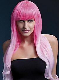 Soft Waves mit Pony Perücke pink