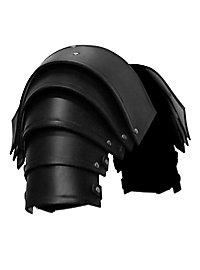 Schulterpanzer Leder schwarz Soldat