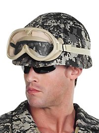 Soldatenhelm Flecktarn aus Kunststoff