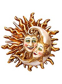 Sole Luna craquele grande Venezianische Maske