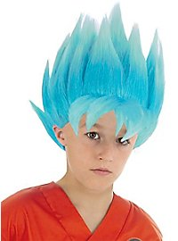 Son Goku Super-Saiyajin wig for children blue