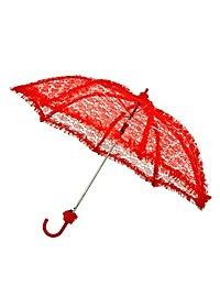 Sonnenschirm mit Spitze rot