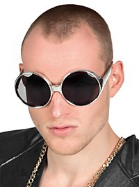 Space Age Sonnenbrille silber