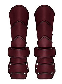 Späher Armschienen Deluxe mit Handschutz rot