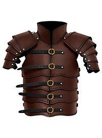 Lederrüstung mit Schultern - Späher braun