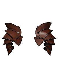 Spallières d'elfe marrons