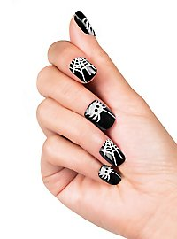 Spiderweb Finger Nails