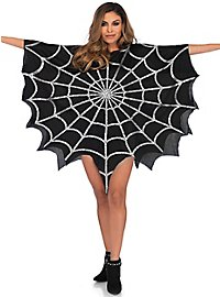 Spinnennetz Glitzer-Poncho