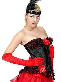 Spitzen-Corsage schwarz-rot