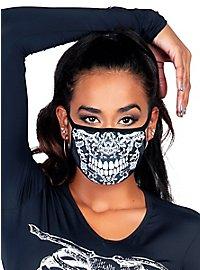 Spitzen Totenkopf Mundschutz Maske