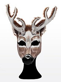 Stag Half Mask Made of Leather