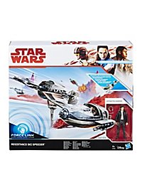 Star Wars 8 - Forcelink Ski Speeder mit Poe Dameron Figur