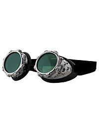 Steampunk Air Pirate Goggles gray green