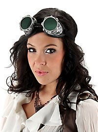 Steampunk Air Pirate Goggles gray green