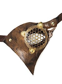 Steampunk Air Pirate Leather Mask gold