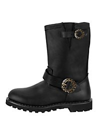 Steampunk Ankle Boots Men black