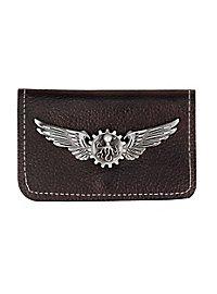 Steampunk Brieftasche mit Silber-Plakette