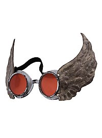Steampunk Brille Aviator orange