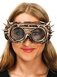 Steampunk Brille gold