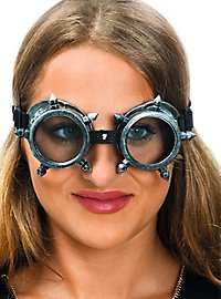 Steampunk Brille silber