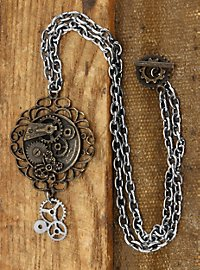 Steampunk Butterfly Medallion includes chain